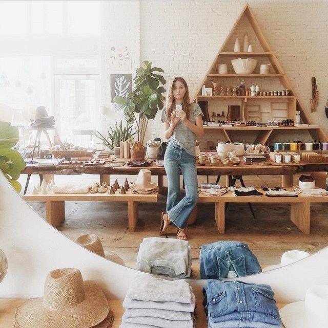 Hannah Henderson inside her bohemian inspired Venice Beach tastemaker General Store.