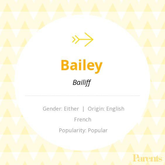 Baby Name: Bailey