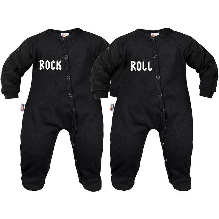 2 x pyjama bébé jumeaux : rock roll - Vêtements jumeaux - SiMedio