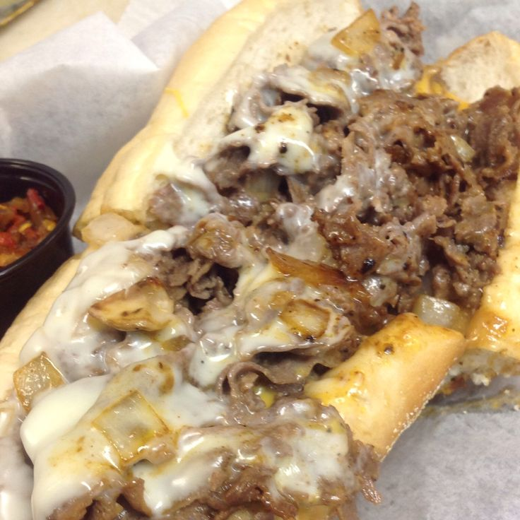 Whiz/Pro wit onions served up on an Amoroso roll at South Florida's BEST and ONLY authentic Philly cheesesteak shop.