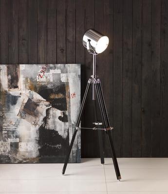 sergeant gulvlampe, metall/sort, høyde:150cm