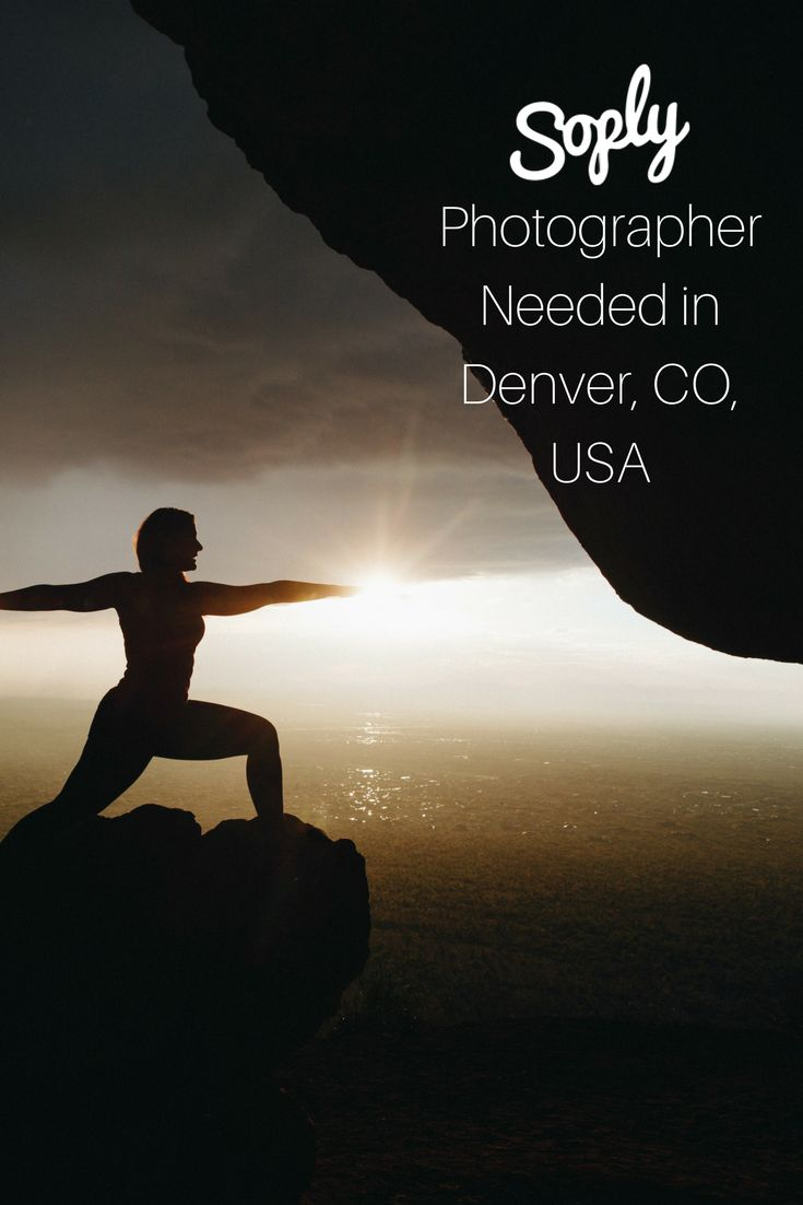 #Photographer needed in #Denver, Colorado, USA to take #photos of a #yogi doing various #yoga poses in the #mountain #landscape. See the #photography job and apply by clicking the pin!
