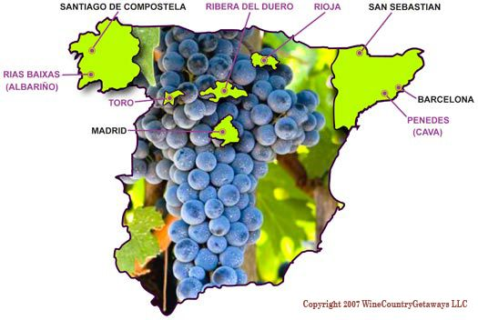 best+wine+regions+of+spain+|+Spanish+Wine+Country