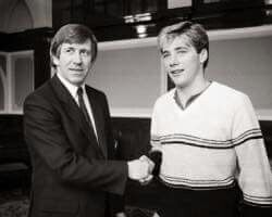 John Greig with his latest signing Alistair McCoist
