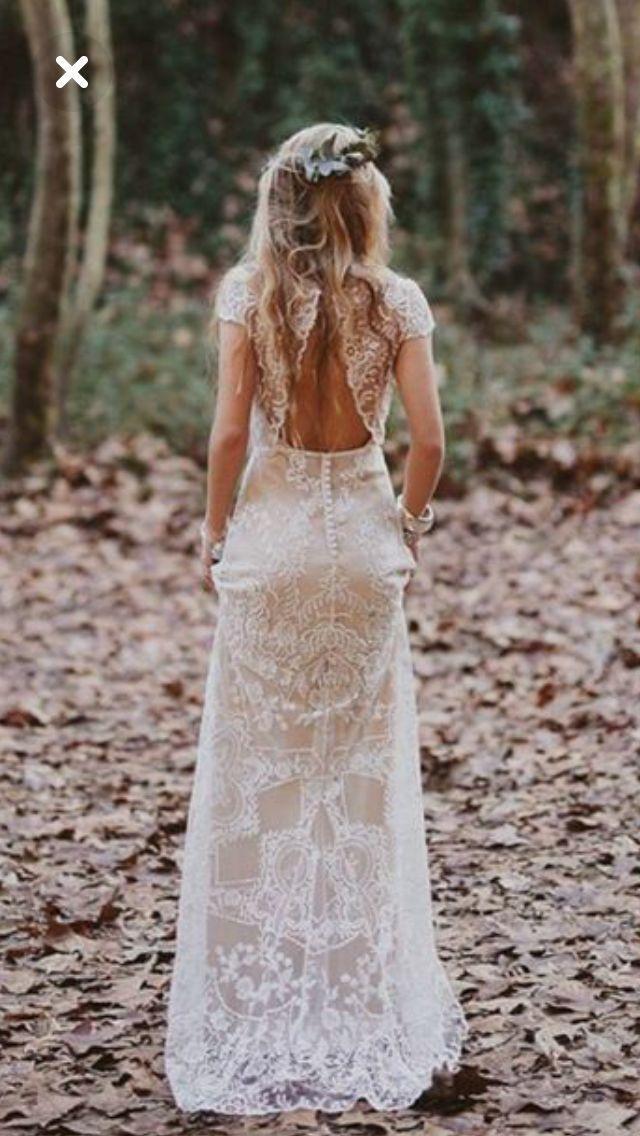 robe de mariée boheme – dos de la robe image | idée de robe de mariage – #Robe…