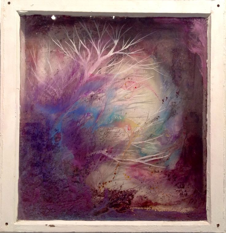 This 'Untitled' by Emma McCaul is a 3D piece done on 2 windows, fabulous effect