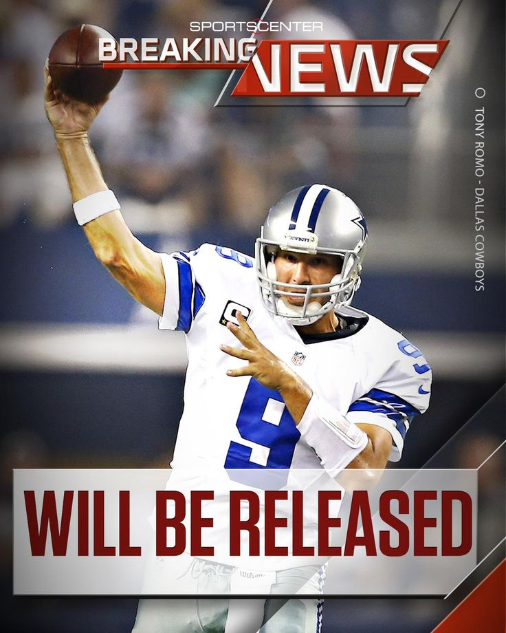 BREAKING: Tony Romo To Be Released From Cowboys https://twitter.com/SportsCenter/status/839550550375022594 Love #sport follow #sports on @cutephonecases