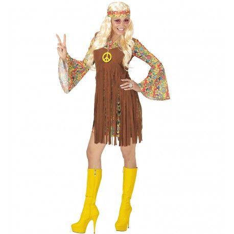 Disfraz de Hippie con Colgante Mujer  #Hippie #Costume