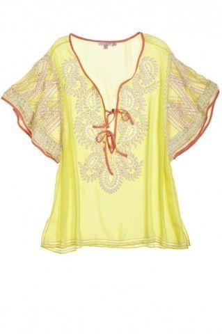 Chella Flutter Sleeve Silk Top | Calypso St. Barth