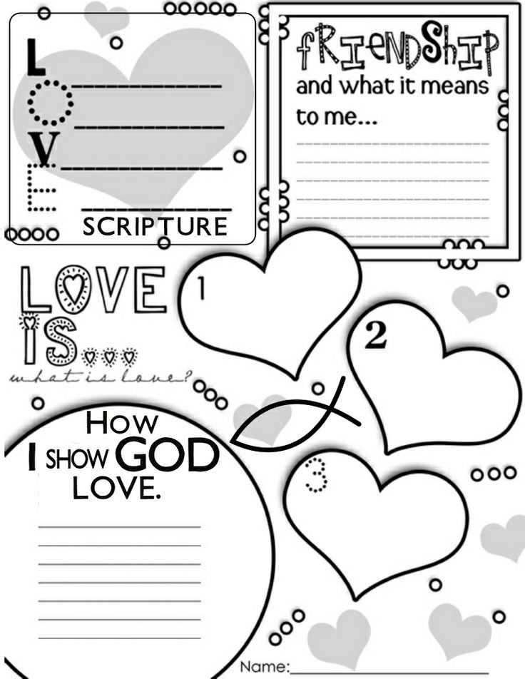 Christian Color Sheets On Love