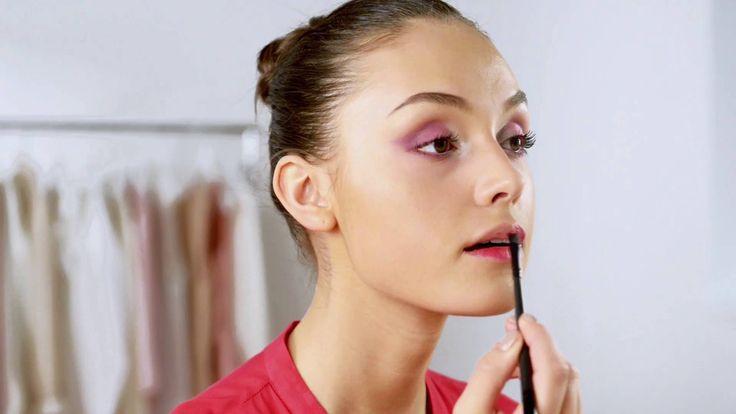 Ροζ Ombré μάτια και Ματ χείλη