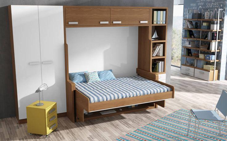 MUEBLE CAMA ABATIBLE CON ESCRITORIO, PARA CAMA DE MATRIMONIO : Modern bedroom by Muebles Parchis. Dormitorios Juveniles.