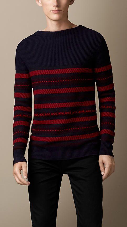 Wool Cashmere Fair Isle Sweater | Burberry www.designerclothingfans.com