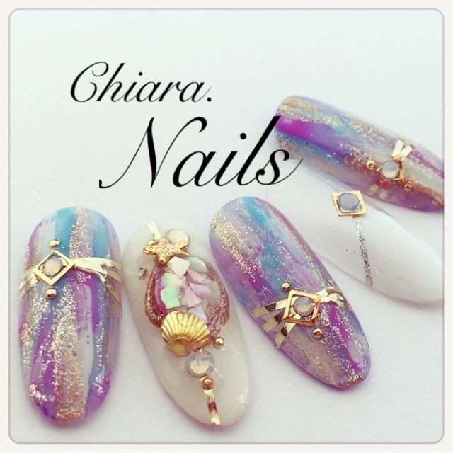 Omg!these mermaid nails I am in love!