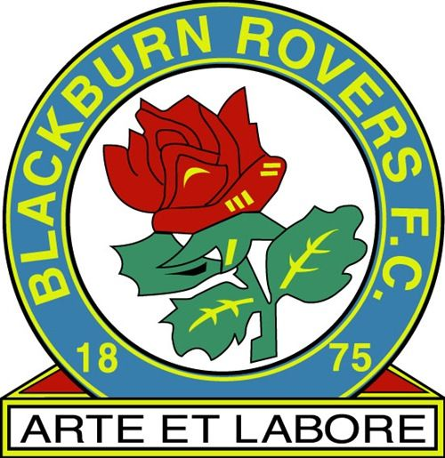 The Rovers won the EPL title a number of years ago. This logo, looks more fitting on a packet of tea. Keep in mind this team, like most English football teams were formed 100+ years ago, when team nicknames and logos weren't used to promote and sell the team as it does now. (DB)