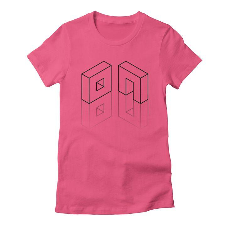 80-6 womens t-shirt in fuchsia