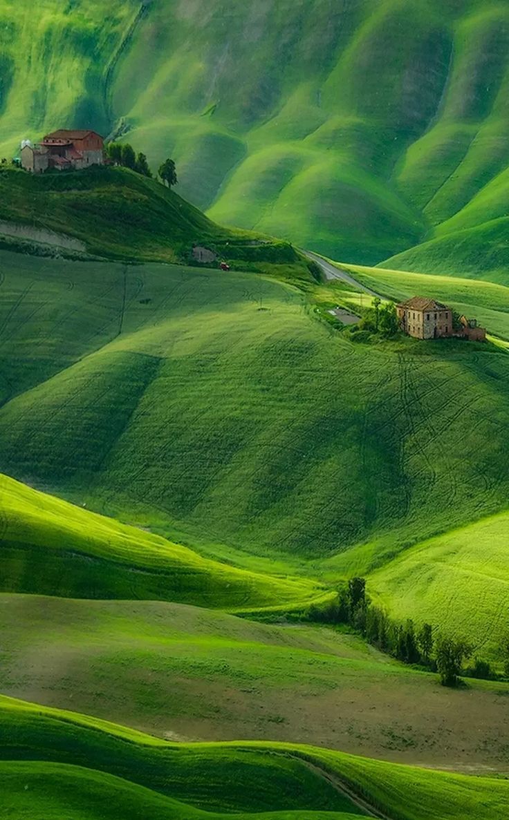 "Vivid depth of color in this photograph of ""An Abandoned Farm"" by Marcin Sobas."