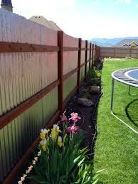 Image result for ideas on corrugated backyard fence