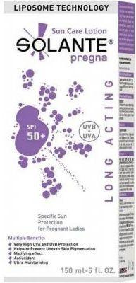 Güneşe karşı sahip olduğu güçlü ve geniş filtrelerle cilde koruyan,güneşin neden olduğu yaşlılık belirtilerine karşı anti age özellik gösteren #Solante #Pregna SPF 50+ #Hamilelere #Özel 150 ml ürününü kullanabilirsiniz.Diğer ürünler için www.portakalrengi.com adresini ziyaret edebilir detaylı bilgi edinebilirsiniz.