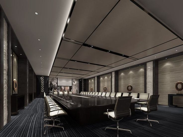 Solemn conference room 3D design