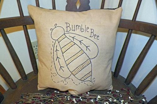 DIY Maybe?   Spring Bumble Bee Summer Pillow Primitive Country Home Decor Garden Unstuffed | eBay