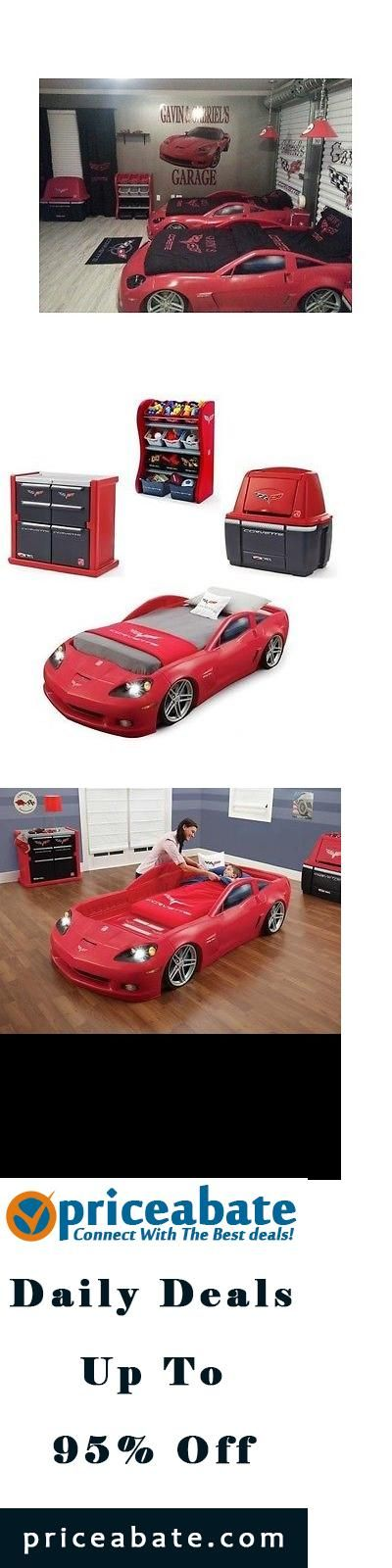 #Priceabate Corvette Bedroom Set Bed Race Car Dresser Storage Chest Organizer Kids Toddler - Buy This Item Now For Only: $764.95