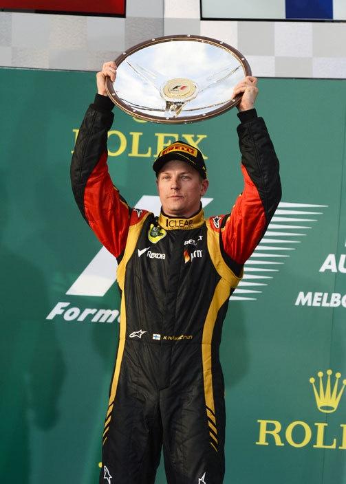 Kimi ja voitto Australiasta!