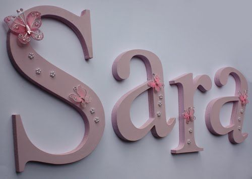 Name letters for wall