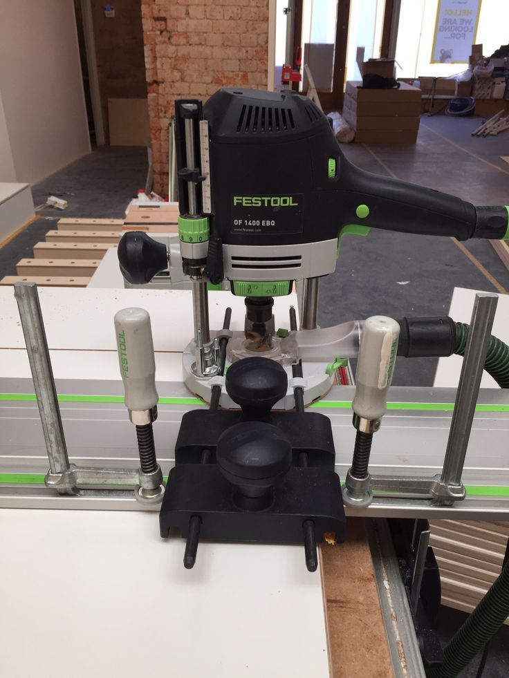 festool router. clamps as stops for router guide rail. festool