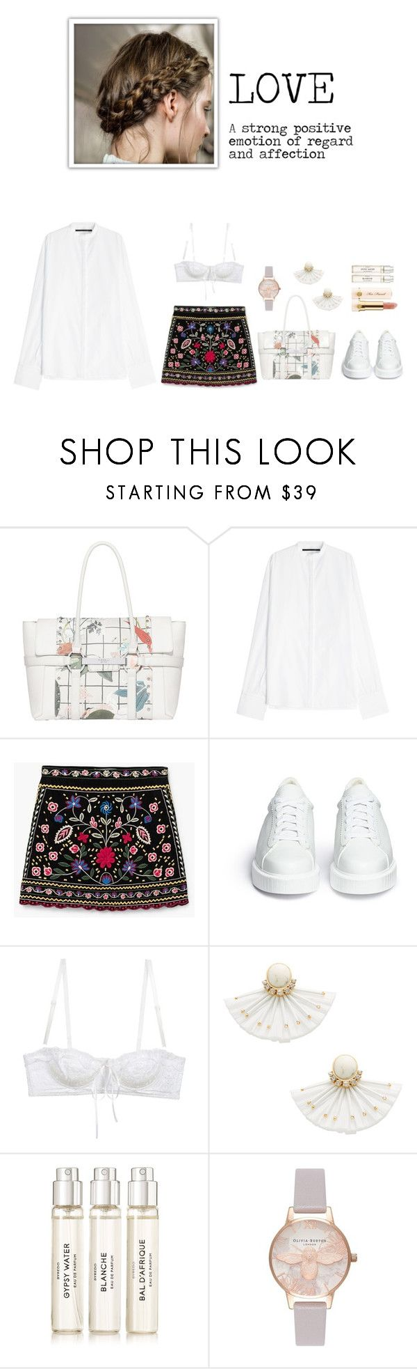 """Untitled #266"" by shoylove-1 ❤ liked on Polyvore featuring Fiorelli, Haider Ackermann, MANGO, Robert Clergerie, Dolce&Gabbana, Kate Spade, Too Faced Cosmetics, Byredo and Olivia Burton"