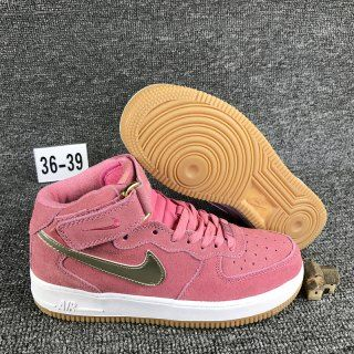 release date e1754 5df0e Womens Sneakers Nike Air Force 1 07 Mid Bright Melon Metallic Gold Star  818596 800