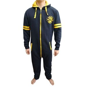 SoulStar Mo Peak Mens Hooded All In One Two Way Zip Onesie (Navy - Blue)