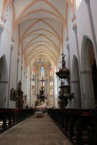Roudnice nad Labem, kostel Narození Panny Marie, 14. století, interiér. Foto: Václav Podlešák