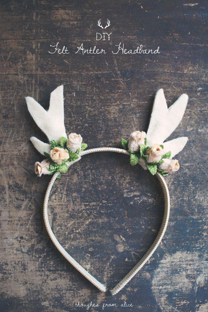 Thoughts from Alice: DIY Felt Deer Antler Headband