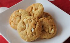 These white chocolate and macadamia  cookies are extra chunky and easy to make.