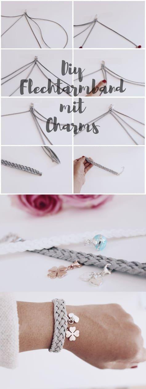 DIY jewelry: make yourself a braided bracelet.   – Nähen