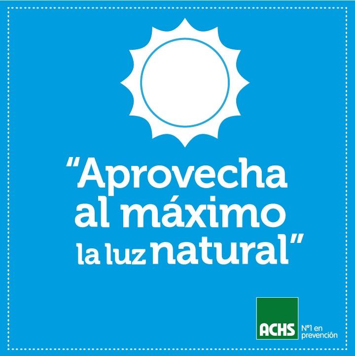 Aprovecha la luz natural #masprevencion #medioambiente