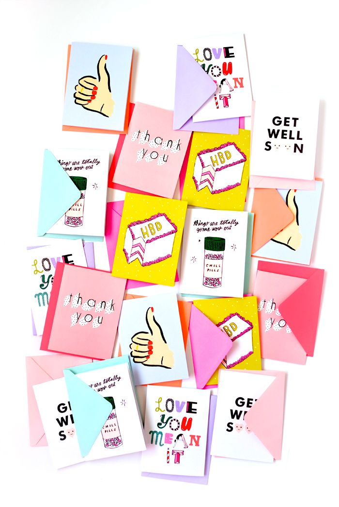 hey girl hey greeting card set!