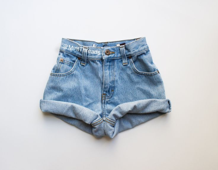 "ALL SIZES Vintage ""HELIOS"" High Waisted Denim Shorts - Mint Threads - 2"