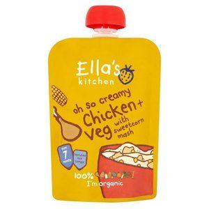 Ella's Kitchen Oh So Creamy ChickenVeg with Sweetcorn Mash 7 mth 130g 4.6 oz