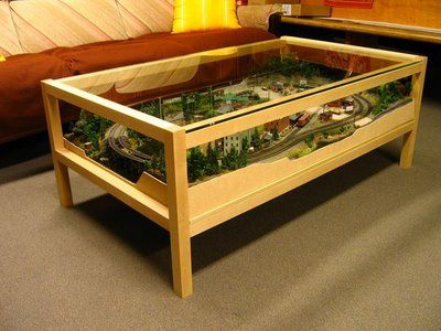 Craftsman Structures: Waterfront Willy's in N-scale Coffee Table .... I want one!