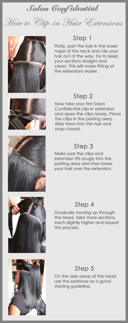 How to clip in Salon Confidential hair extensions