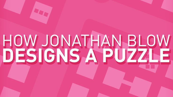 For Jonathan Blow, a puzzle is never just a puzzle - it's a communication from the designer to the player about the game's universe. In this episode, I share...
