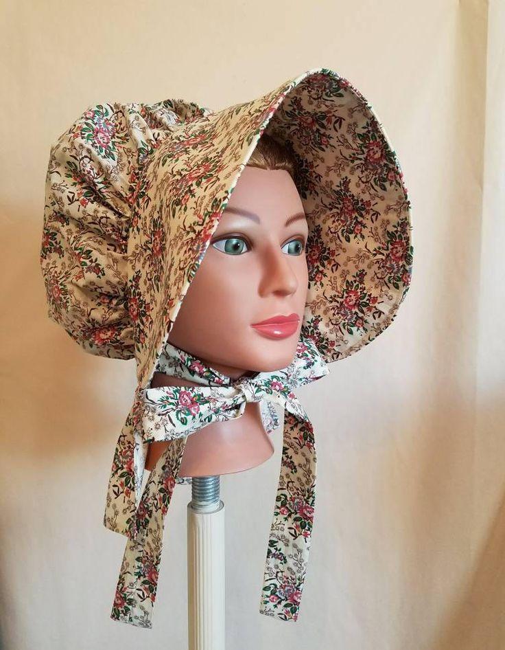 Women's Floral Pioneer Bonnet by BonnetsandDresses on Etsy