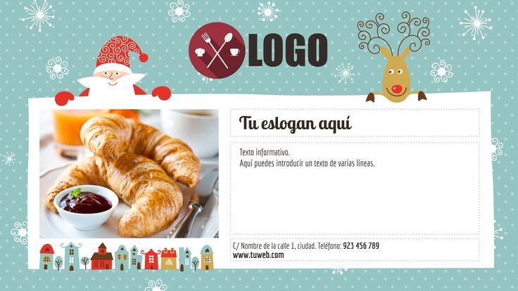 Consigue que todo el mundo conozca tu menú navideño con esta plantilla de playthe.net.