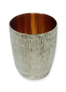 Silver Plated Kiddush Cup with Line Hammering by World of Judaica. $580.00. You will be pleasantly surprised! The vast majority of our shipments arrive within 10-14 business days from time of shipment, far in advance of Amazon's default calculation of shipping times for items shipped from Israel.. Dimensions: 8cm. Your order includes 1 item(s).. Material: Sterling silver 925. This uniquely textured Kiddush cup is an excellent product to give your Shabbat and Jewish celebration...