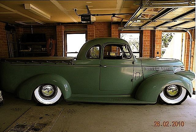 One cool 46 chev coupe ute from Australia running a 409 big block