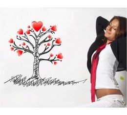 Heart tree wall sticker available at www.kidzdecor.co.za. Free postage throughout South Africa