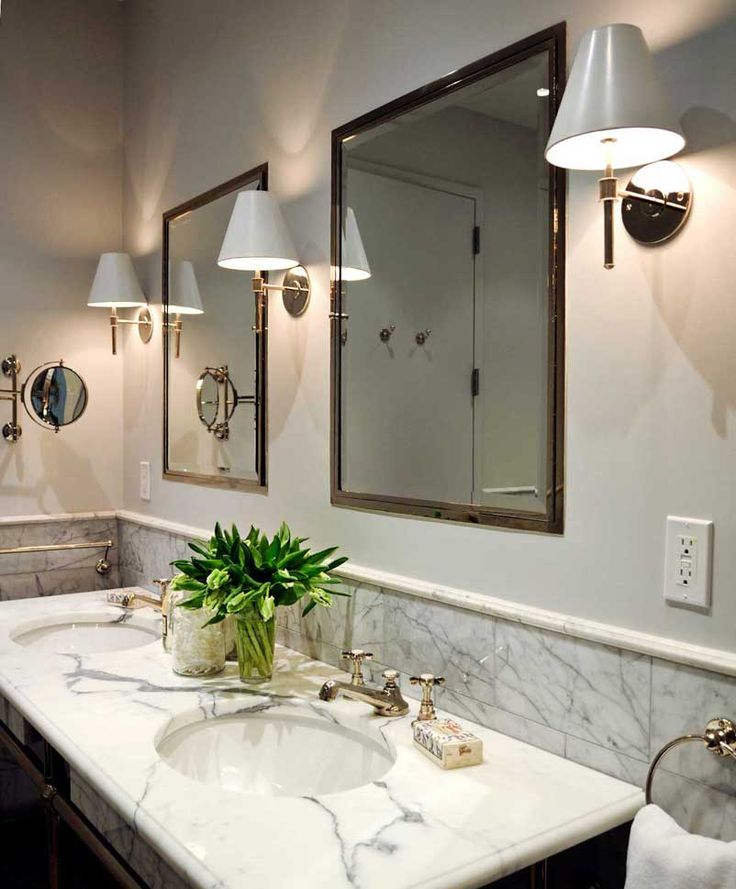 interesting bathroom light fixtures%0A UECo  Portfolio  Environment  Bath  Our pharmacy cabinet will have a  similar appearance to these twin cabinets