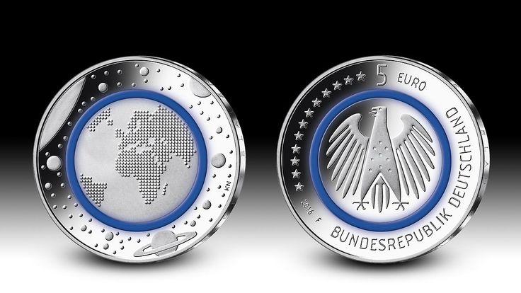 """Blauer Planet Erde"" heiß begehrt: So bekommt man die blaue Fünf-Euro-Münze"